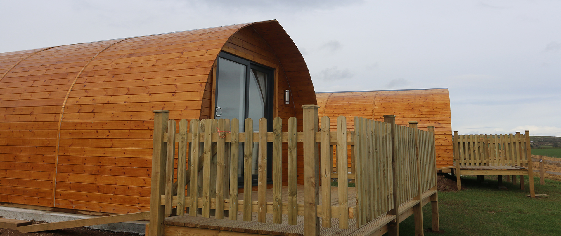 Wooden Glamping Pod Exterior