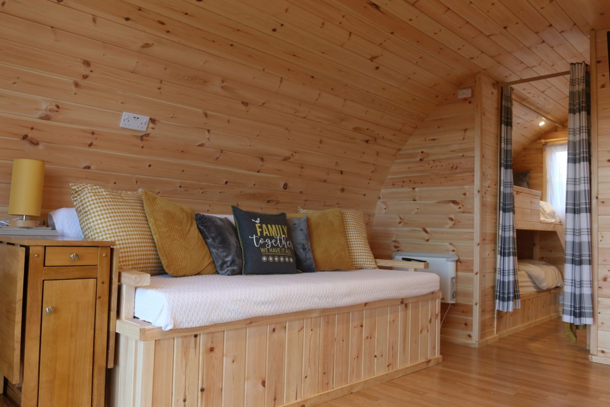 Wooden Glamping Pods Interior