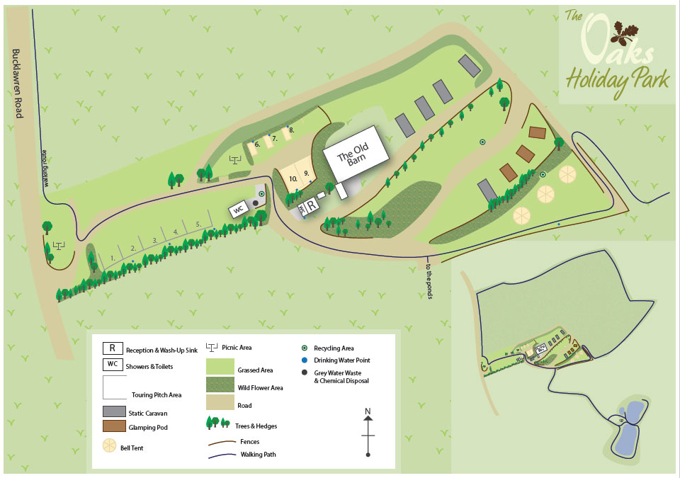 The Oaks Holiday Park - Map